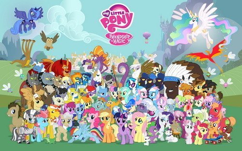 "02 My Little Pony Friendship is Magic Cute Movie 22""x14"" Wall Poster"