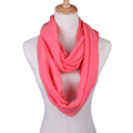 20 Colors Fashion Solid Color Scarves Light weight Circle Loop Women Infinity Scarf Plain Snood For