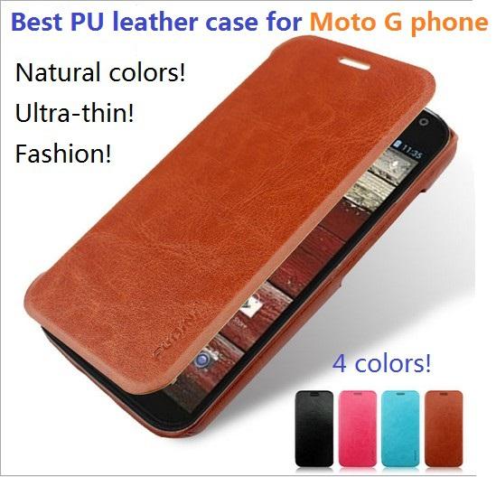 Best PU leather flip case Moto G phone luxury fashion style cover Motorola Gphone - Shenzhen Sind Technology Co., Ltd. store