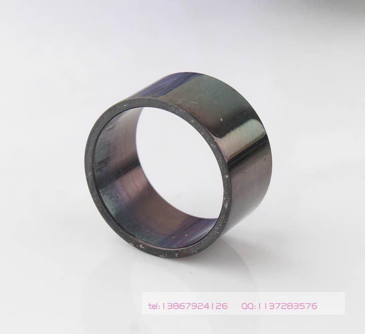 10pcs/lot 3Pcs 12MM Black Glaze Top Quality 316L Flat Wide Wire Surface Stainless Steel Rings(China (Mainland))