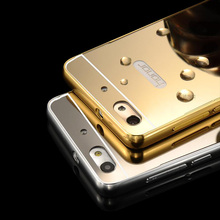 Aluminum Frame Mirror Back Cover Case For Huawei Ascend P6 G6 P7 G7 P8 P9 Lite Honor 6 7 8 4C 4X 5X 5C Y3 Y5 Y6 2 II Pro(China (Mainland))