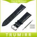 1st Layer Genuine Leather Watchband Universal Watch Band Croco Strap Men Women Wrist Bracelet 12mm 14mm