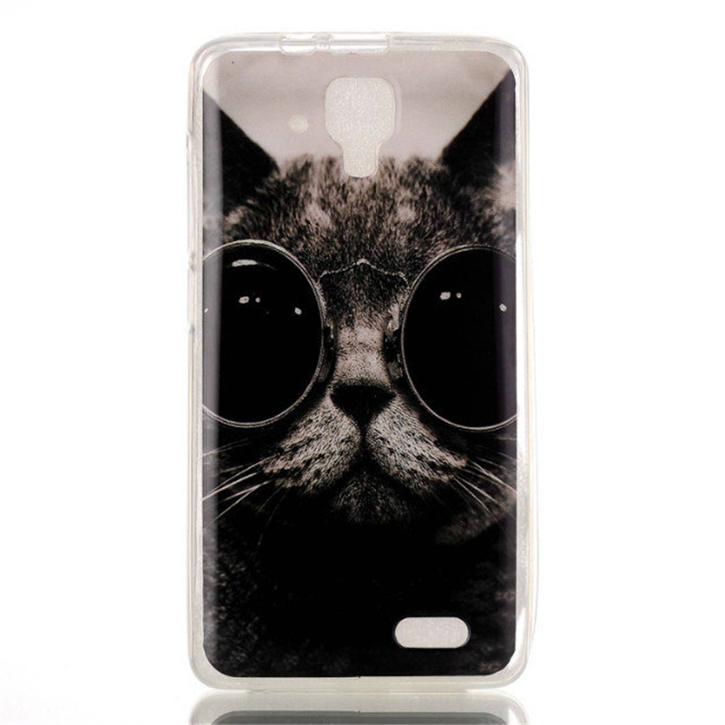 For Lenovo A536 Flower Cover Fashion Cartoon Bear Owl Cat Soft Plastic TPU Silicone Case for Lenovo A358T Phone Protective Bags