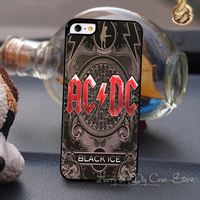 Hot Precious Heavy Metal Music Band ACDC Mobile Cases for Iphone 4 4s 5 5S 5C Cover With One Gift