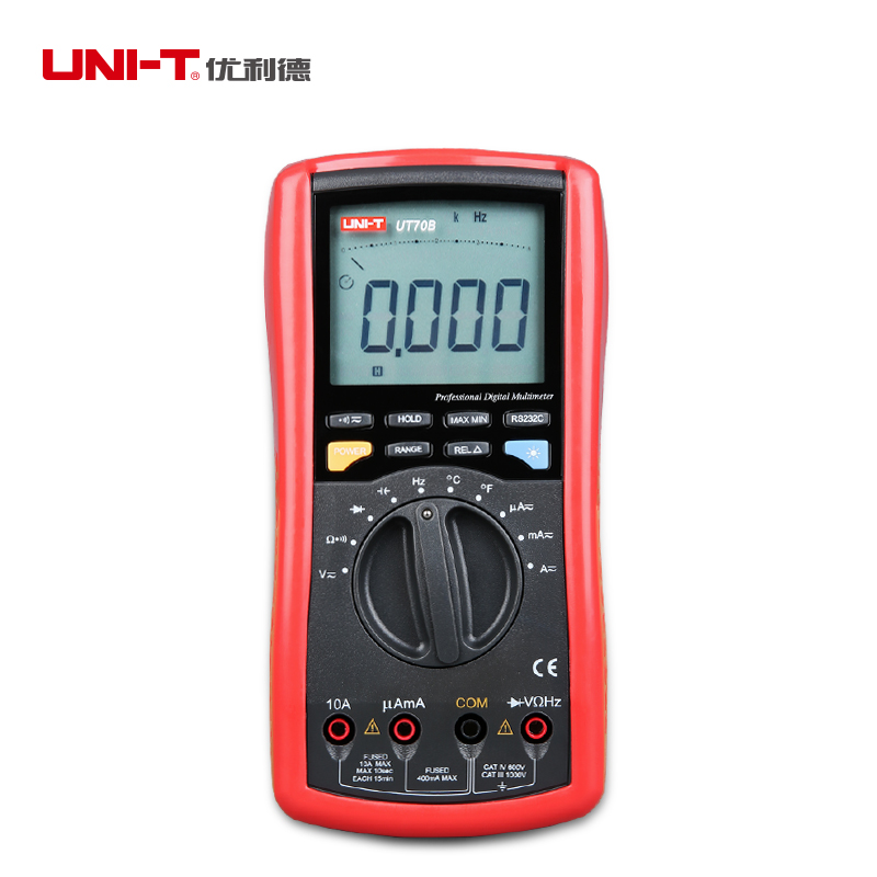 Фотография UNI-T UT70B LCD Digital Multimeter Volt Amp Ohm Temp Capacitance Inductance R-S232 Analog Bar Graph Free Shipping