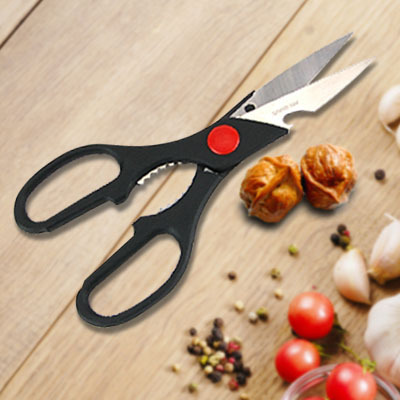 Multi-function stainless steel scissors can open bottle clamp walnut multi-purpose stainless steel kitchen cut fish chicken bone(China (Mainland))
