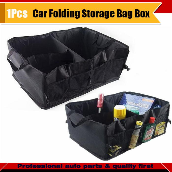1pc black car storage box auto real trunk organizer tool for 1 box auto