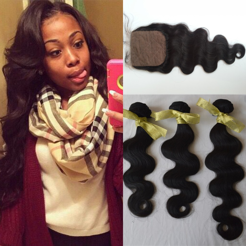 Peruvian Virgin Hair with Closure VIP Peruvian Body Wave 3 Bundles with Closure,Sexy Formula Hair Peruvian Curly with Closure