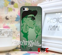 ETFC356 wiz khalifa smoking drawing New Fashion Design Hard Black Skin for iPhone 5 5s 5g Case Cover