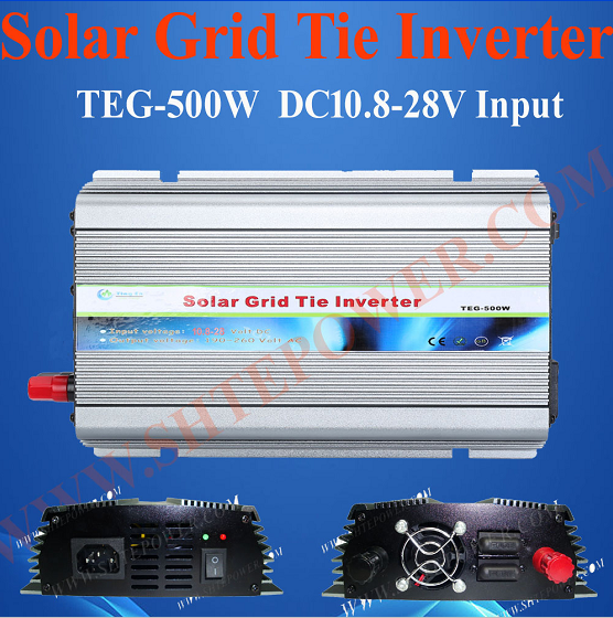 DC 10.8-28V to AC 100V 110V 120V 220V 230V 240V 500W Solar Grid Tie Power Inverter(China (Mainland))