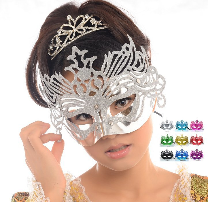 2014 new Party Christmas halloween mask masquerade ball masks realistic anonymous carnival festival gold dust hot-selling - PETOULA STORE store