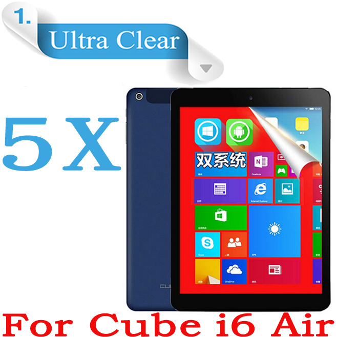 "Ultra Clear Screen Protector For CUBE I6 Air 3G Tablet PC Screen Film 9.7"" HD LCD Film For Cube i6 Air Protective Film 5pcs(China (Mainland))"