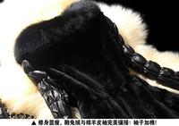 новые модные осенью и зимой полный рукав искусственного меха Женское пальто Рекс кролика длинные пэчворк