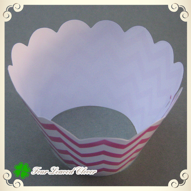 Free Shipping 300pcs Lot Wedding Cupcake Wrappers PrintedDecorative Cupcake Boxescupcake