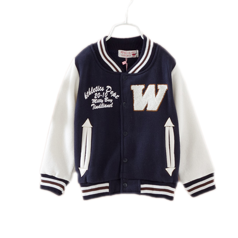 New Spring Autumn Clothes Children's Long-sleeved Letter Printed Outerwear Boys Baseball Jacket Kids Jackets And Coats For Boys(China (Mainland))