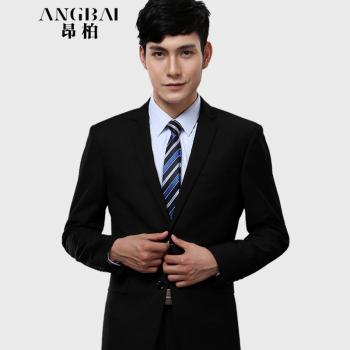 Suit Male Self-cultivation Business Korean Leisure Suit Black Business Suits Wedding Dress Black Twill Suit 48 Pants Size 32
