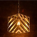 Square Simple Iron Loft Style Vintage Pendant Lights Edison Industrial Fixtures For Bar Home Lighting Suspension