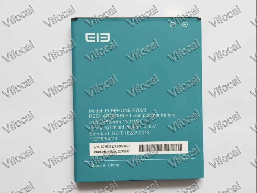Elephone P7000 battery 3450mAh 100 Original New Replacement Accessory For Cell Phone Free Shipping Track Number