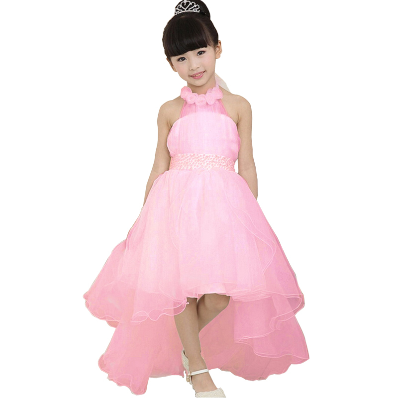 free shipping 2017 summer girl dress tulle flounce tiered tutu dresses princess party wedding costume children clothes vestidos(China (Mainland))