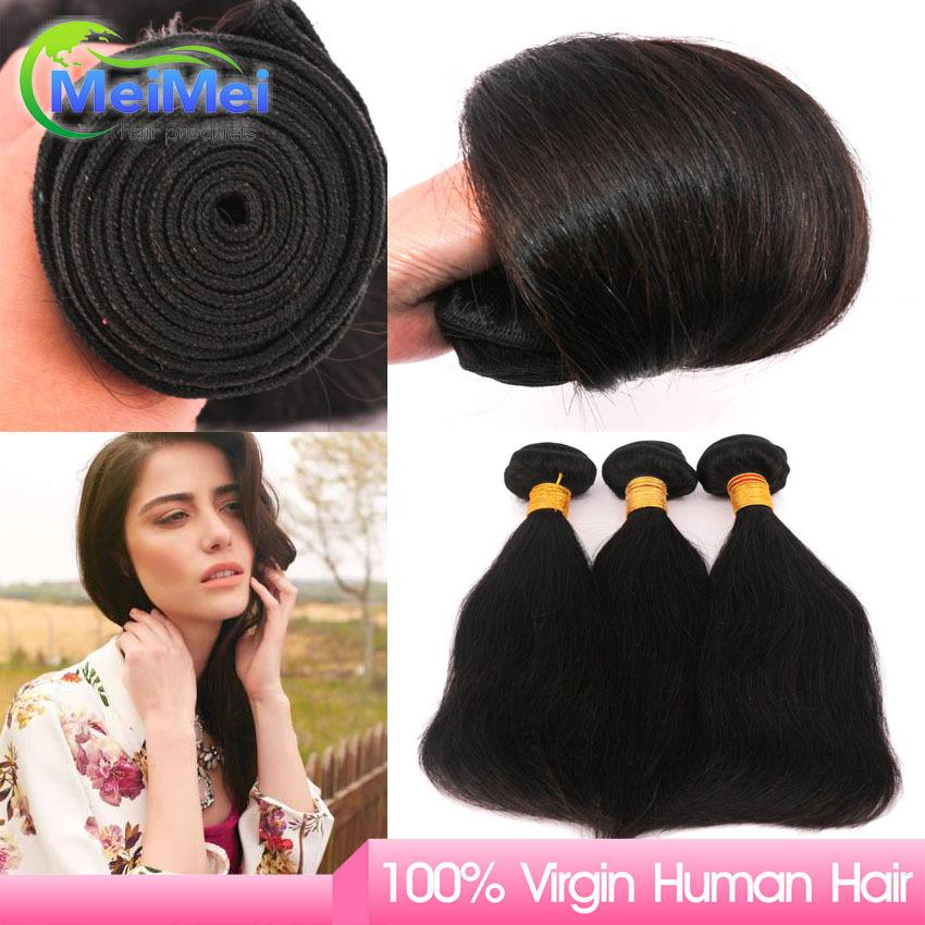 Straight Virgin Hair European 3 Pieces European Hair Weaving Natural Black Remy Hair European Straight <br><br>Aliexpress