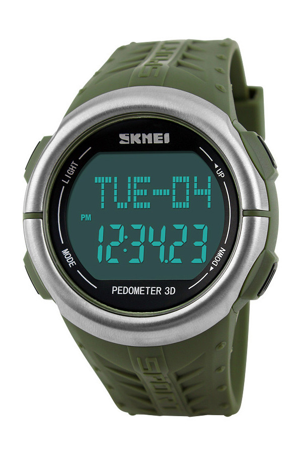 SKMEI 1058 Outdoor Sports Watches Pedometer Heart Rate Monitor Calories Counter Digital Watch Sport for Men