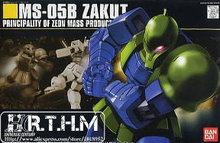 Bandai HGUC 64 MS-05B Zaku I Gundam model Kits Assembled model scale model