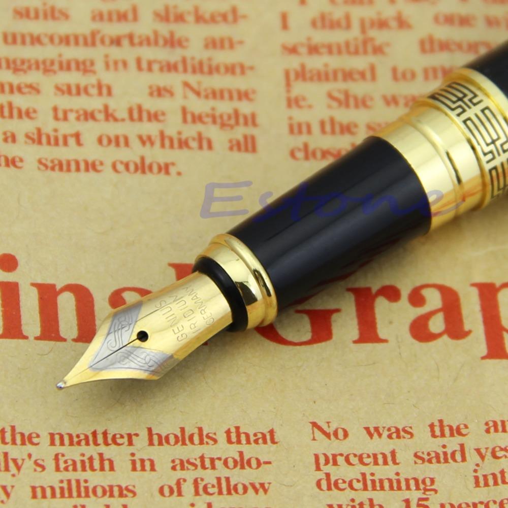 "Z101""New for Hero 901 Fountain Pen Meduim Nib 0.5mm Gold Black(China (Mainland))"