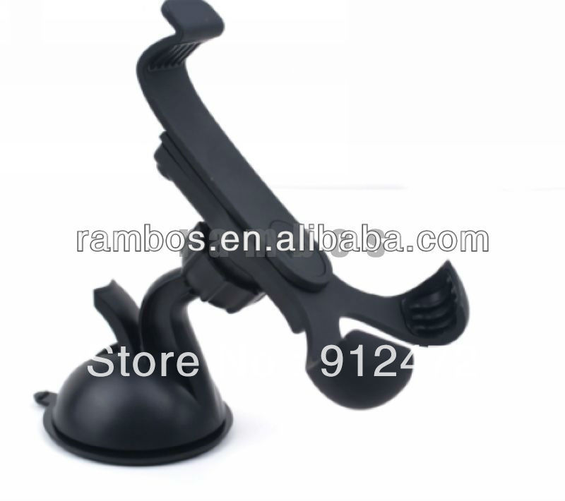 100pcs/lot Rotating Mount Universal Windscreen GPS & Smart Phone Clip Car Holder for Nokia for HTC free shipping(China (Mainland))