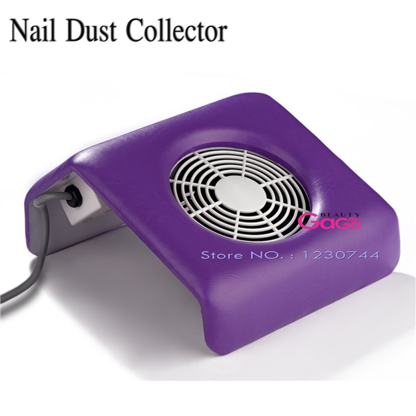 BeautyGaGa Purple Color Acrylic UV Gel Dust Suction Strong Fan Nail Dust Collector Nail Gel Polish Manicure Tools Equipment(China (Mainland))