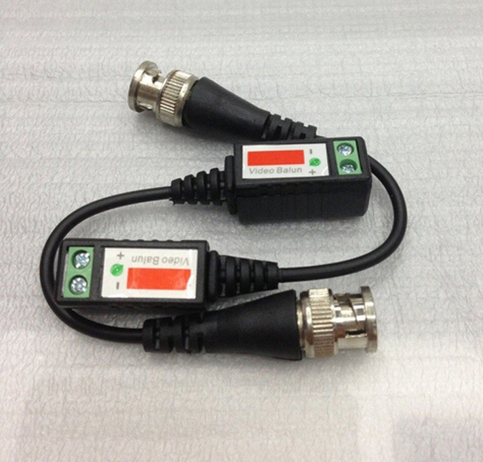 NI5L 10x CCTV Camera Passive Transceiver BNC Connector Coaxial Cable Twisted Video Balun Distance UTP Balun BNC Cable Cat5(China (Mainland))