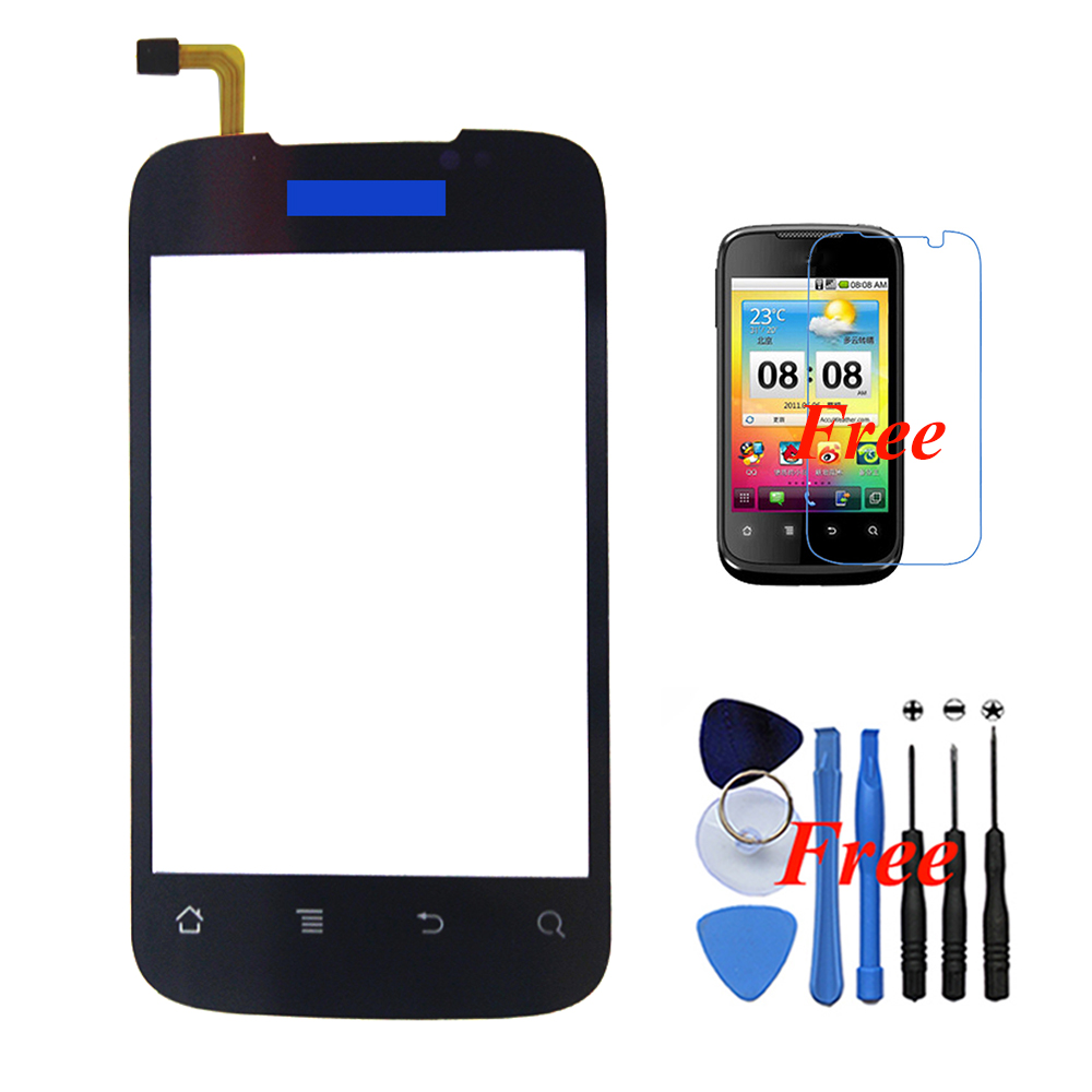 HUAWEI C8650 New Original Front Outer Touch Screen Panel Digitizer Glass Assembly Replacement Free Gifts - Black Xinghai store