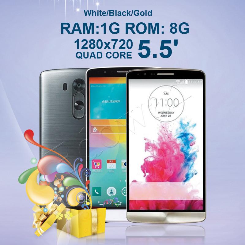 Free shipping Original LOGO G3 phone Quad core MTK6582 5.5inch Android 4.4 1GB RAM 8GB ROM 1280*720 13MP G3 WCDMA 3G GPS Wifi(China (Mainland))