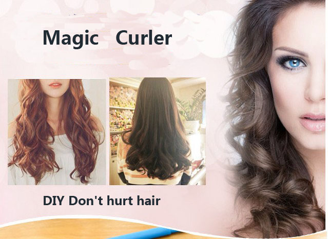 18pcs magic hair curlers Hair Rollers Styling Curler Tools Easy At Home DIY Natural Way(TD-0010)(China (Mainland))