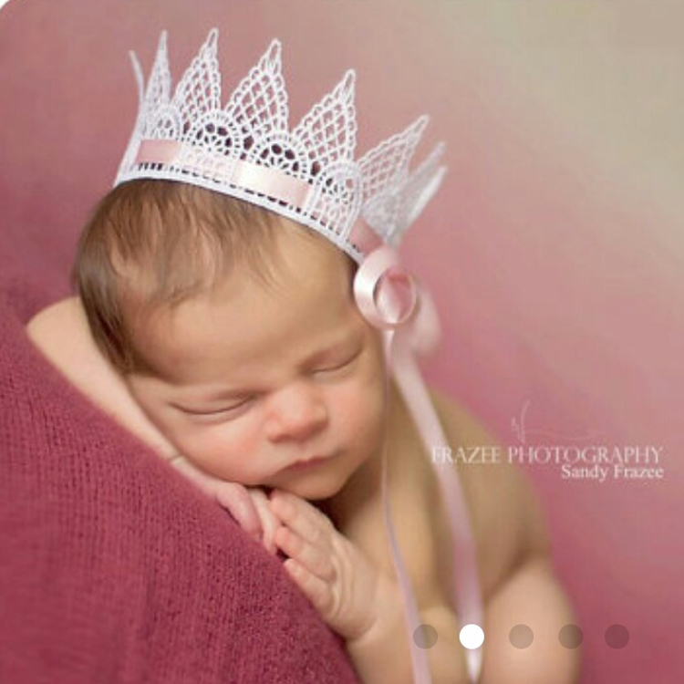 Lace Crown Photography Prop Tiaras Prince Birthday Gift Princess Crowns Baby Hand Craft Party Hats - Choco honey store