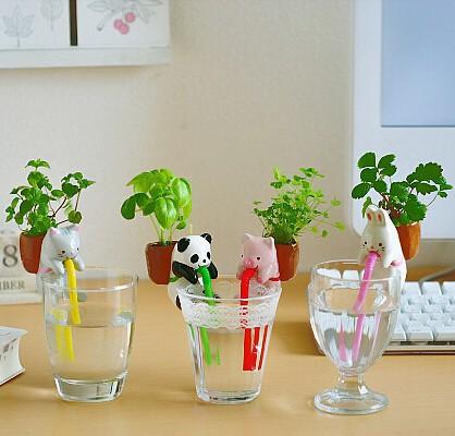 Creatieve verjaardag xmas geschenken leuk dier ontwerp kantoor desktop bloemen planten small cap - Decoratie ontwerp kantoor ontwerp ...