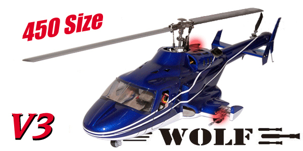 Nueva versión helicóptero Bell 222 W/retrae y metal landing gear airwolf 450 V3 Azul y Blanco similares como heliartist airwolf 450(China (Mainland))
