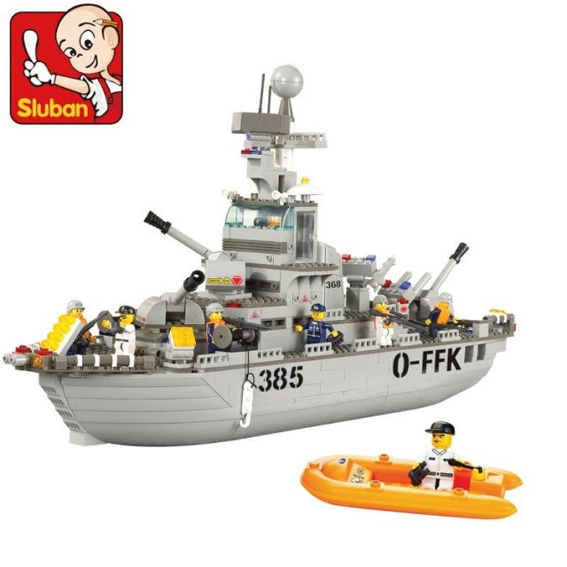 Building Block Sets Compatible lego military Marine Cruisers 3D Construction Brick Educational Hobbies Toys Kids