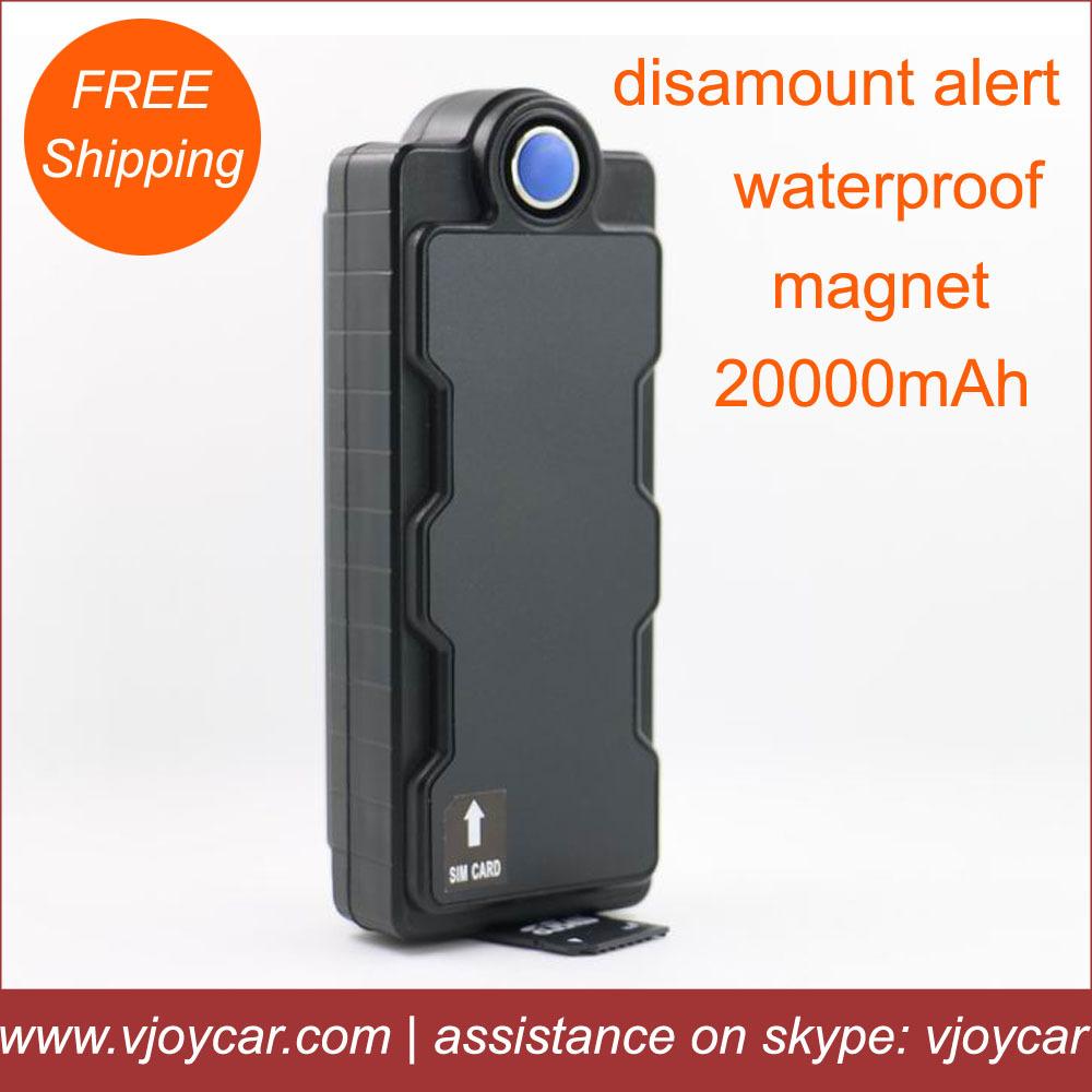 VJOY original gps tracker with China top quality 20000mAh internal big battery and waterproof IPX7, free web software and app!(China (Mainland))
