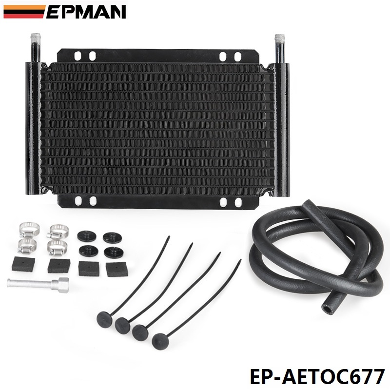 EPMAN Racing Car Series 8000 Type 13 Row Aluminum Plate &amp; Fin Transmission Oil Cooler EP-AETOC677<br><br>Aliexpress