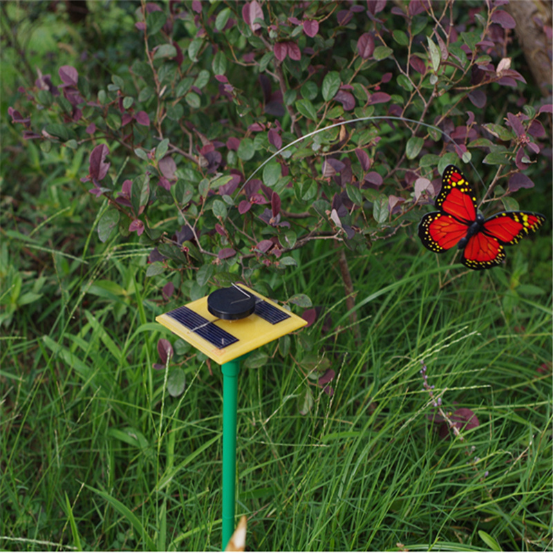 Novelty Solar Powered Dancing Flying Butterfly Garden Decoration Tools Random Cientific Childrens Toys New Arrival(China (Mainland))