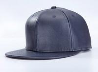 Wholesale Mens Blue PU Leather Snapback Hat Fall Winter Women Blank FlatBrim Adjustable Baseball Caps Buy Bulk Hats Online China
