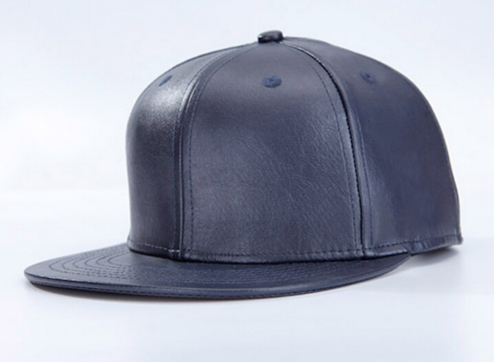 Wholesale Mens Blue PU Leather Snapback Hat Fall Winter Women Blank FlatBrim Adjustable Baseball Caps Buy Bulk Hats Online China(China (Mainland))