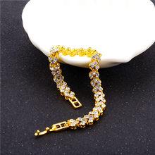 DIEZI Tinh Tế Sang Trọng Roman Pha Lê Vòng Đeo Tay Cho Phụ Nữ Món Quà Cưới Hàn Quốc Tăng Vàng Bạc Chain Vòng Tay Lắc Tay Đồ Trang Sức(China)