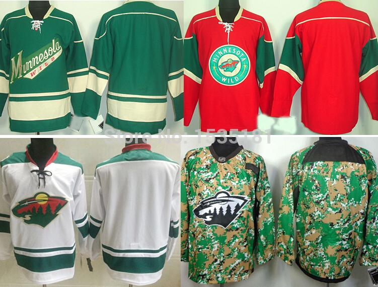 hot sale cheap minnesota wild blank hockey jerseys 00 no