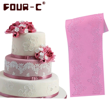 Hot 3D silicone cake lace mat silicone mold fondant cake decorating tools bakeware cake mold silicone lace mold free shipping(China (Mainland))