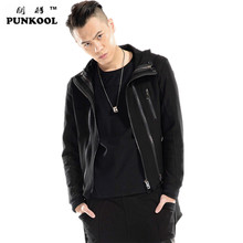 PUNKOOL Kanye West New Men Coat Hoodies Dovetail Cardigan Trench Brand Hip Hop Swag Sport Streetwear Outerwear Oversize Overcoat(China (Mainland))