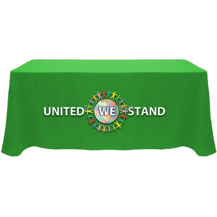 8ft advertising table cover, trade show table cloth, free shipping(China (Mainland))