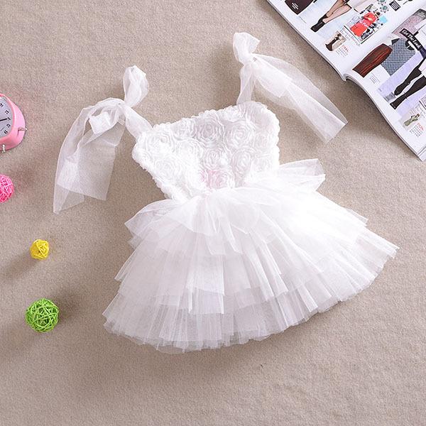 Новинка девушки цветочные платья тюль туту платье без рукавов ну вечеринку принцесса платье бесплатная доставка