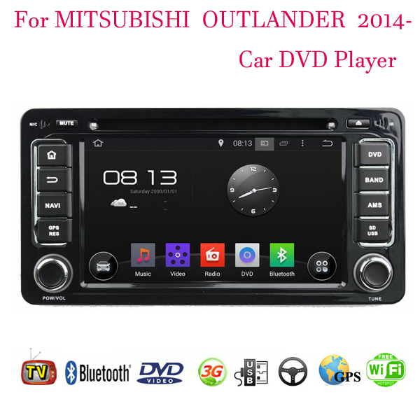 2 Din Android 4.4 Fit Mitsubishi OUTLANDER 2014 2015 Car DVD Player GPS TV 3G Radio WiFi Bluetooth(China (Mainland))