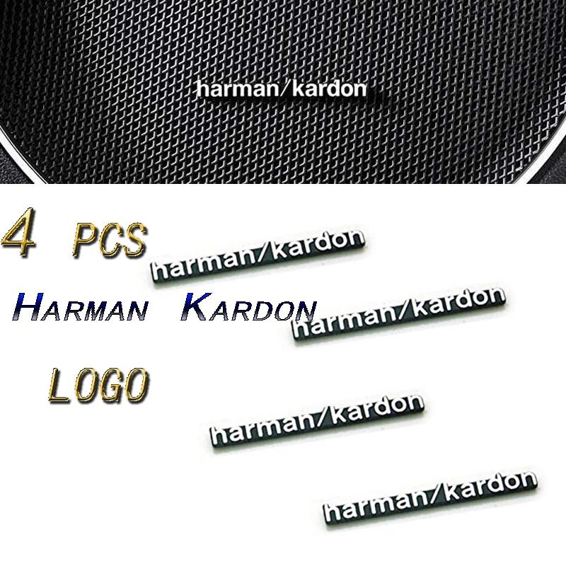 4 pcs Harman Kardon Speaker, Logo, Emblems, Decals, Badges Pins Chrome Silver Metal.(China (Mainland))